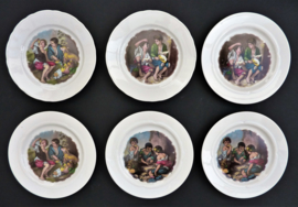 Porseleinen dessertbordjes Royal Schwabap - set van zes