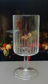 Mid Century Modern wijnglas met verticale strepen - set van vier