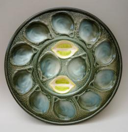 St Clement barbotine oester serveerschaal model 4589