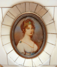 Miniatuur portret Louise Van Mecklenburg Strelitz Koningin van Pruissen