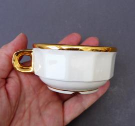 Pillivuyt petit creme kop wit met goud