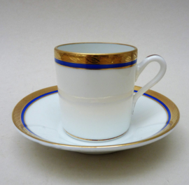 Richard Ginori Danube 6 demitasse espresso kopjes met schotel