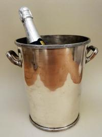 Antieke stalen champagne wijn koeler model Kruisband