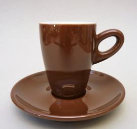 SPM Walkure Alta bruin espresso kop en schotel