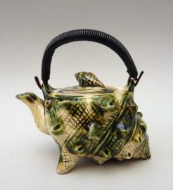 Japanse Mid Century studio pottery schelp theepot 225 ml