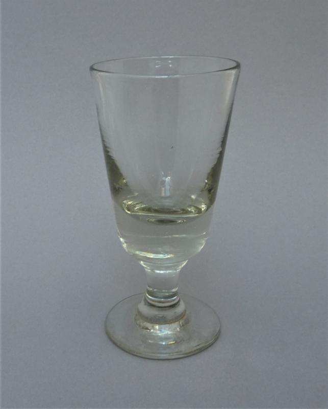Antieke Glazen Kandelaars.Antiek 19e Eeuws Nederlands Wijnglas Antiek Glas En Kristal La