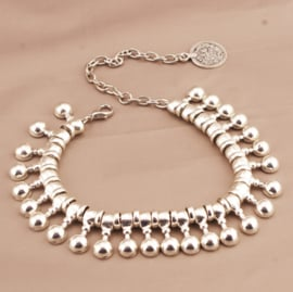 BEADS ANKLE - silver