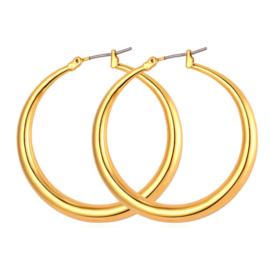 GYPSY HOOPS - gold large (pair)