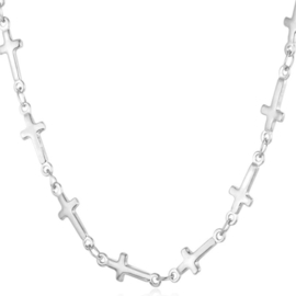 CROSSES NECKLACE - silver
