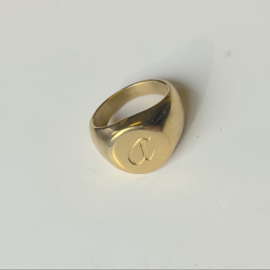 SIGNET INITIAL RING A - gold