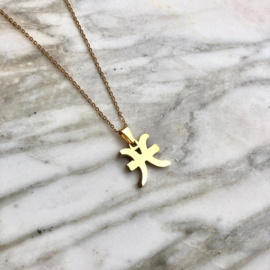 STAR SIGN PISCES/VISSEN - gold