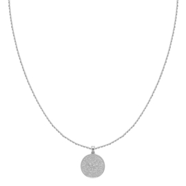 OLD COIN NECKLACE - silver plated