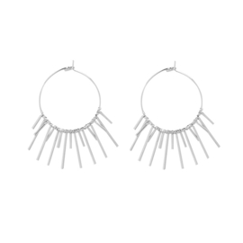 MOON LIGHT EARRNIGS - silver (pair)