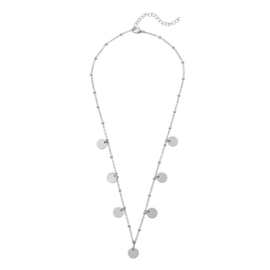 CIRCLES NECKLACE DOTS - silver