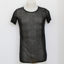 MESH SHIRT - black long
