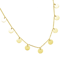 CIRCLES NECKLACE - gold