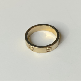 SCREW RING - gold