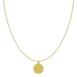 OLD COIN NECKLACE - gold plated