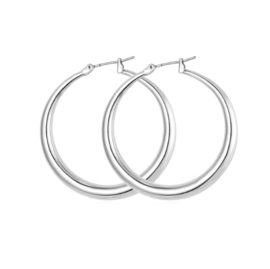 GYPSY HOOPS - silver medium (pair)