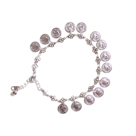 COIN ANKLET - silver