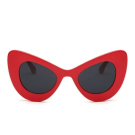 BIG CAT EYE SUNNIES - red