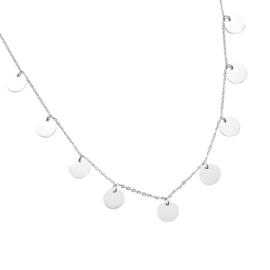 CIRCLES NECKLACE - silver