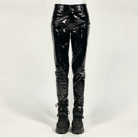 THE PANTS - black vinyl latex look