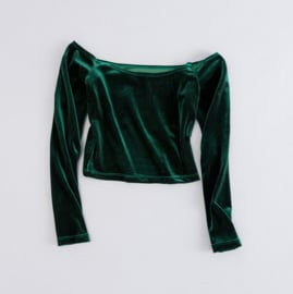 OFF SHOULDER - green velvet