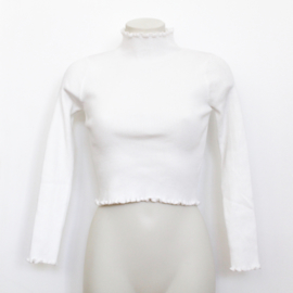 ROUCHE TOP - white