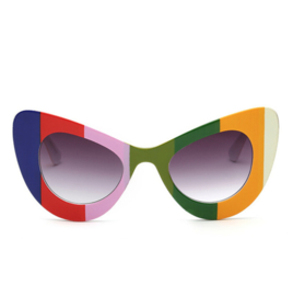 BIG CAT EYE SUNNIES - rainbow