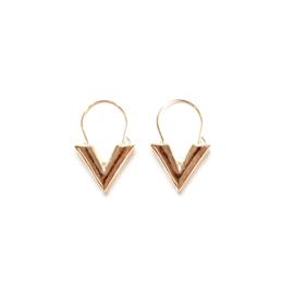TINY V - gold (pair)