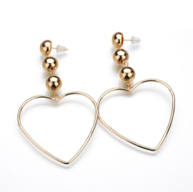 CLASSY HEARTS - gold (pair)