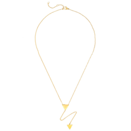 TINY TRIANGLES NECKLACE - gold