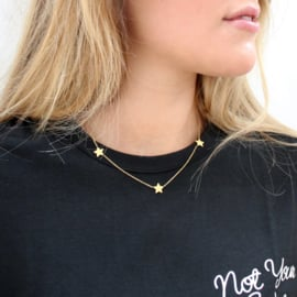 3 STARS NECKLACE - gold