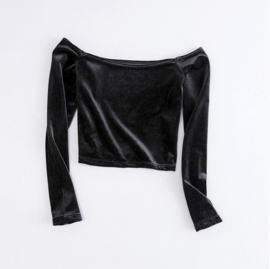 OFF SHOULDER - black velvet