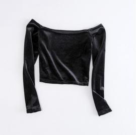 OFF SHOULDER - black velvet