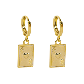 ACES EARRING - gold (piece)