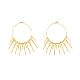 MOON LIGHT EARRNIGS - gold (pair)