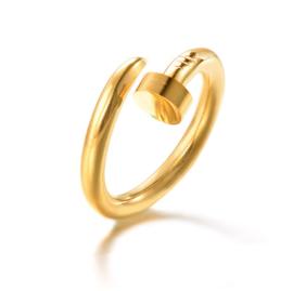 NAIL RING - gold