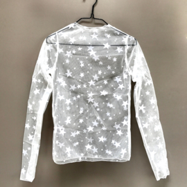 MESH TOP STAR - white