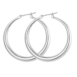 GYPSY HOOPS - silver large (pair)