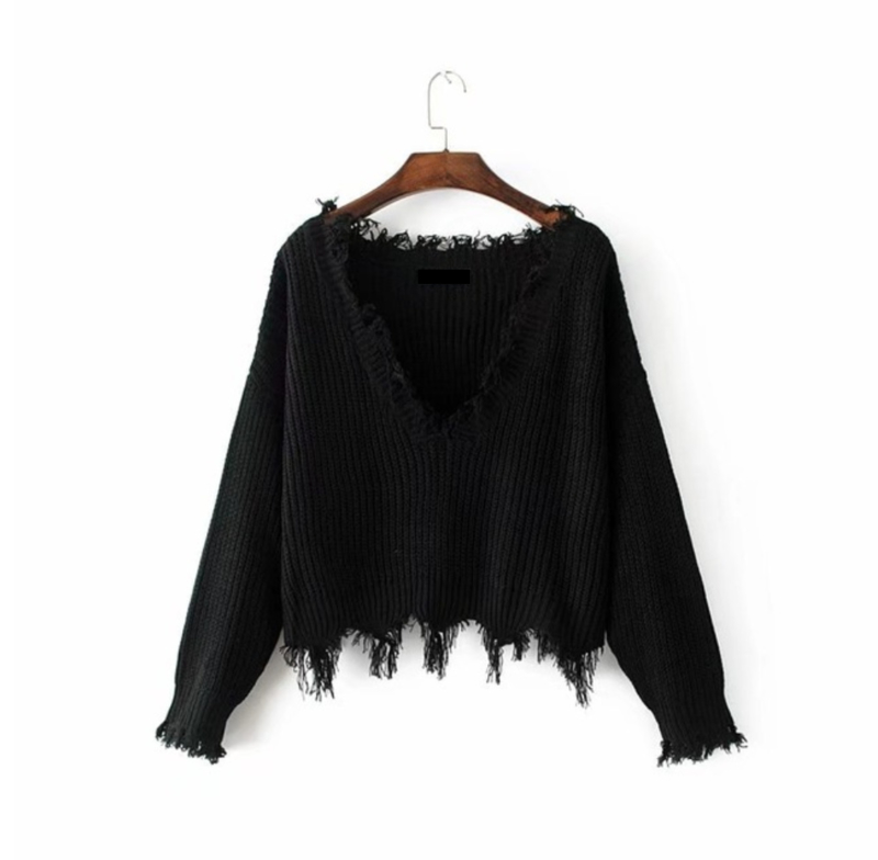 OFF SHOULDER SWEATER - black
