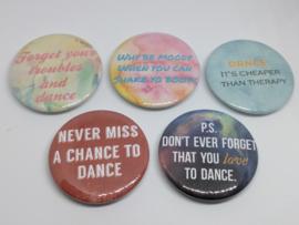 Handgemaakte Buttons Dansquotes