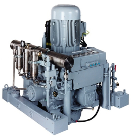 Navy 4 stage water cooled high pressure compressors up to 400 bar