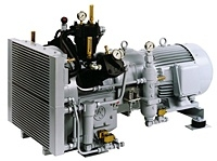 Shipping 3-stage air-cooled compressor up to 40 bar