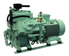 Shipping 2 stage water cooled starting-air compressors up to 457 m3/