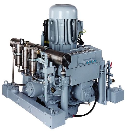 Marine 4 traps water gekoelde hoge druk compressoren t/m 400 bar