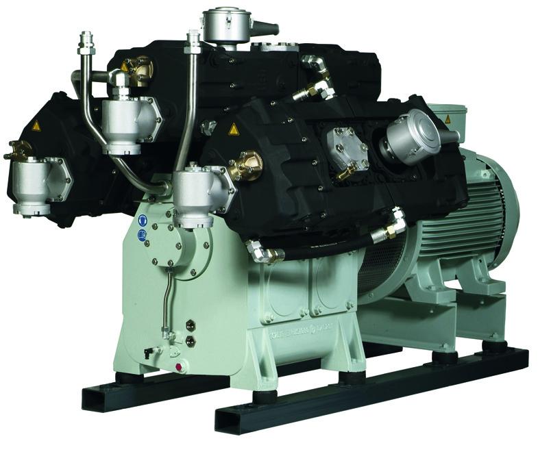 Industriele 3 traps water gekoelde compressor t/m 500 bar