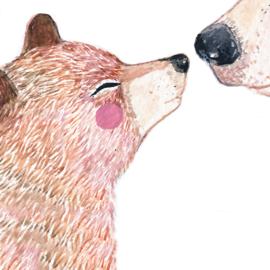 Geboortekaartje grote en kleine beer