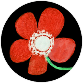 Sluitzegel rode bloem